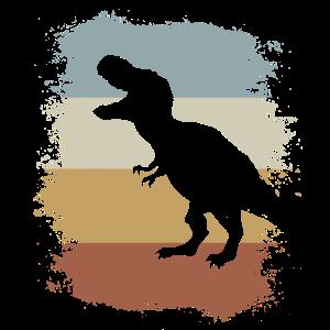 Retro Dino brüllender T-Rex Dinosaurier Geschenk