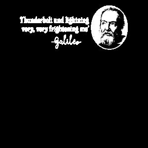 Galileo Zitat Thunderbolt Lightning Nerd Geschenk