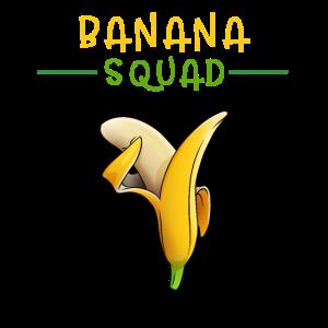Dabbing Banana Squad Bananentruppe Team Geschenk