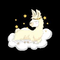 Alpaka Einhorn Wolke