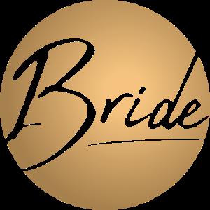 Braut Junggesellenabschied Bride rund - gold