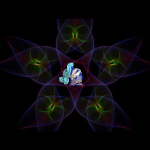 Ritter in geometrischem Design