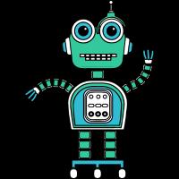 Cartoon cute robot
