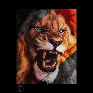 Löwe-Plakat