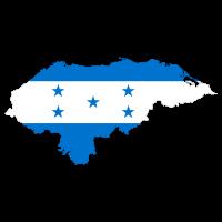 Honduras Flagge Umriss Lateinamerika Urlaub Reise