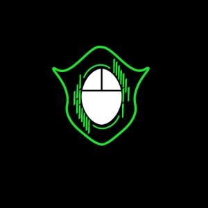 Gaming PC Maus Tastatur Wappen Videospiel