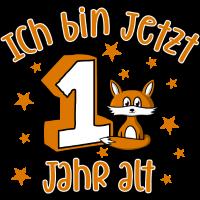 Erster Geburtstag - 1 Jahr alt mit Fuchs