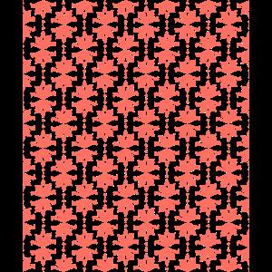 Vintage gleichmaessiges Muster Tapete korallenrot