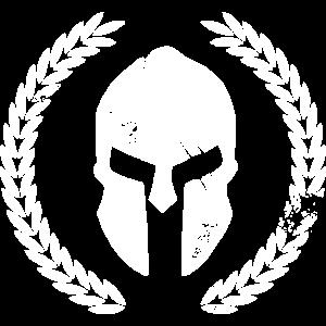Sparta mit lorbeerkranz