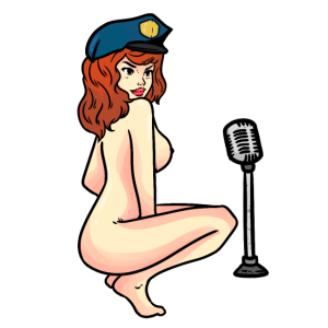 Sexy Stripperin und Sängerin Gogo nackt Tänzerin