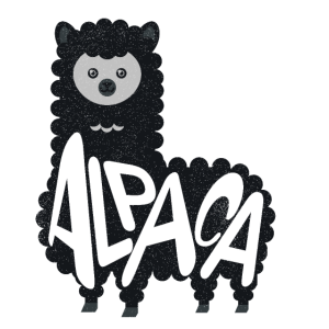 Lustiges Alpaka Lama Team Niedliche Tiere
