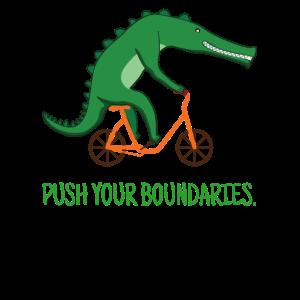 Krokodil Reptil Fahrrad Lustige Tiere Ironisch