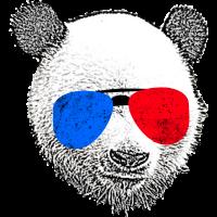 Pandabär mit Sonnenbrille