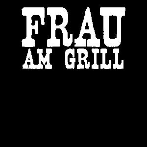 Frau am grill