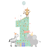 1. Geburtstag Safari Kinder Baby