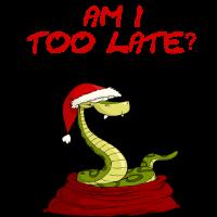 Verpeilte Weihnachts Schlange