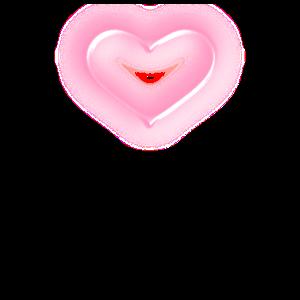 Herz, rosa Glow
