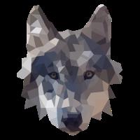 Polygon Wolf Design - geometrische Illustration