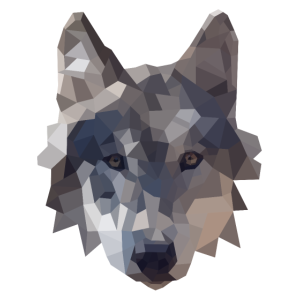 Polygon Wolf Design - geometrische Illustration
