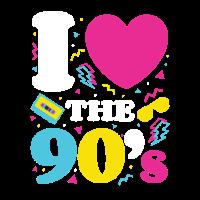 Liebe die 90er Jahre; Retro TShirt 1990er Jahre 90er Jahre Party