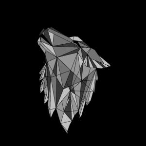 Geometrischer Wolf Tier Geschenk