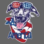 Hund und Hunde segnen Amerika Illustration