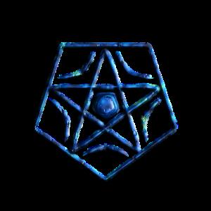 Geometrisches Design Blau