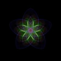 Blume geometrisches Design