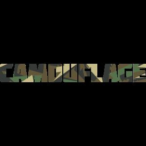 Camo Camouflage Schriftzug Spruch für Mode Shirts
