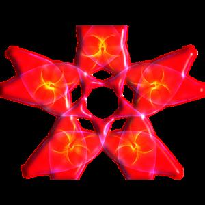 Blumen-geometrisches Design