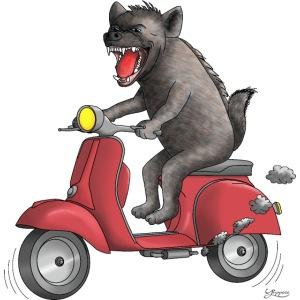 Hyäne - cooler Roller Fahrer