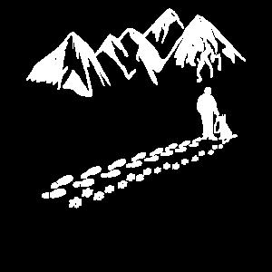 Dog Man Mountain Pfote Gassi Shirt