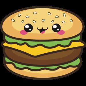 Niedlicher Burger Smile Kawaii