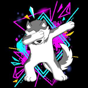Dab Dabbing Husky Hund Dog Dancing Trend Geschenk