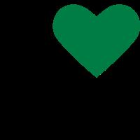 Grünes Herz / Ich liebe Ökologie