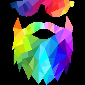 Geometric Beards Man Farbig Mann Bart Sonnenbrille