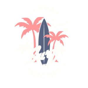 Kalifornien-Brandungs-Weinlese-Strand-Küstenleben