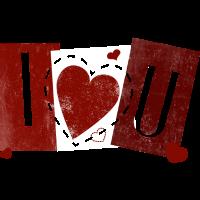 I love U - Herz -Liebe -Valentinstag