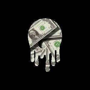 Dollar Geldschein Farbklecks