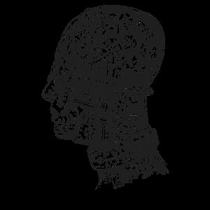 Steampunk Head CrossSection Mechanische Zahnräder Büste