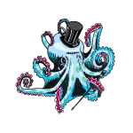 gentleman octopus blue