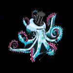 gentleman octopus blue