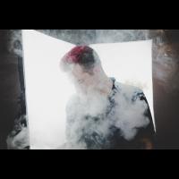 Person im Nebel