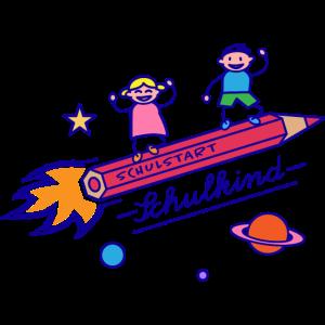 Schulkind Buntstift-Rakete Shirt zum Schulanfang