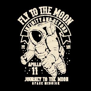 Weinlese-Mond-Astronaut