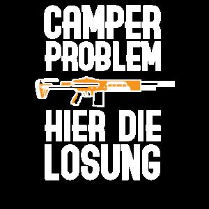 Camper Problem | Lustiges Gaming Zocker Geschenke