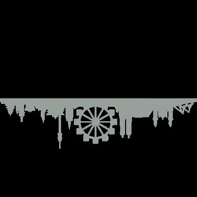 Skyline München Riesenrad 2 - Skyline München, Oktoberfest - wiesn,wahrzeichen,skyline,silhoutte,sehenswürdigkeit,riesenrad,oktoberfest,münchen,fest,bayern