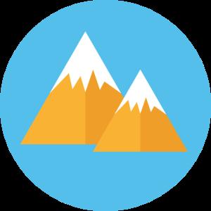 Berge Schnee symbol