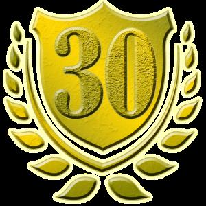 30 Jahre, 30. Geburtstag, Jubiläum