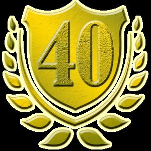 40, 40. Geburtstag, Geschenk, Vierzig